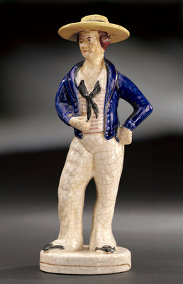 Earthenware figure of a sailor by unknown - print