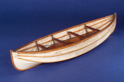 Full hull model, collapsible lifeboat by unknown - print