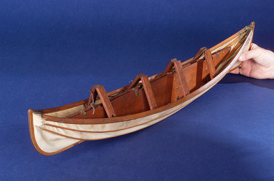 Full hull model, collapsible lifeboat, collapsed for stowage by unknown - print