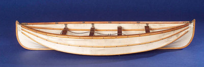 Full hull model, collapsible lifeboat, broadside by unknown - print