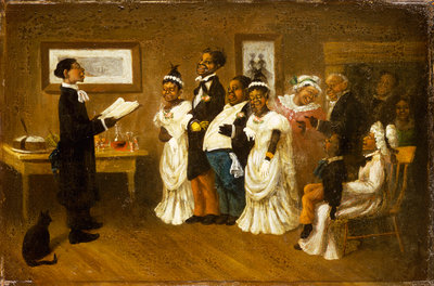The Wedding by American School - print