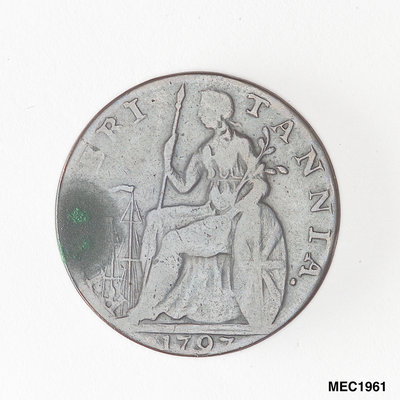 Halfpenny token commemorating Admiral John Jervis, Earl St Vincent (1735-1823) by unknown - print