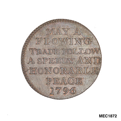 Promissory naval farthing token commemorating John Jervis, Earl St Vincent (1735-1823) by T. Wyon - print
