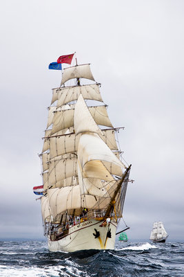 Barque 'Europa' during Lerwick to Stavanger Tall Ships Race 2011 by Richard Sibley - print