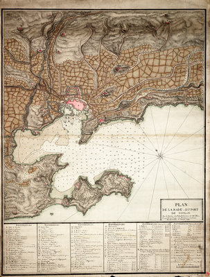 Plan of Toulon by Anonymous - print