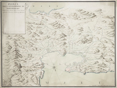 Map of Portoferraio on Elba by Anonymous - print