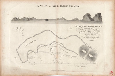 A chart of Lord Howe Island, 1788 by J. Stockdale - print