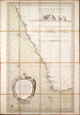 Map of the southwest of Africa, 18th century by Departement de la Marine - print