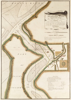 Map of Hoogly River by unknown - print