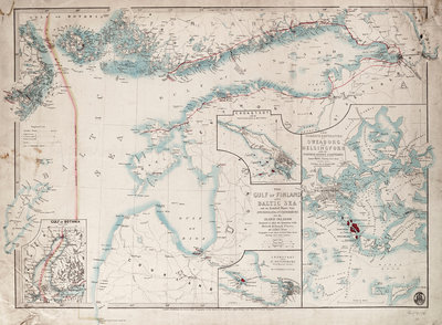 Chart of Gulf of Finland and Baltic by James Wyld - print