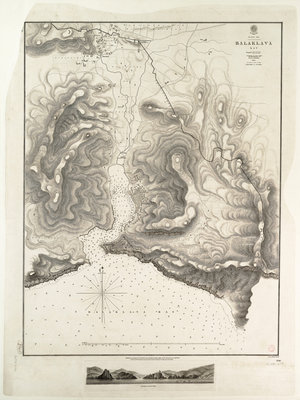 Balaklava Bay, Black Sea, surveyed by Commander Spratt of HMSV 'Spitfire', 1854 by Thomas Spratt - print