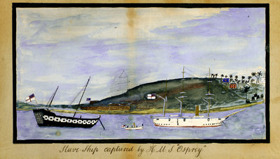 Slave chip captured by HMS 'Osprey' by unknown - print