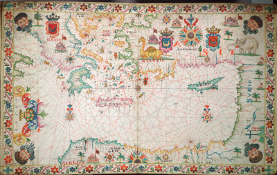 Chart of the eastern Mediterrean by unknown - print