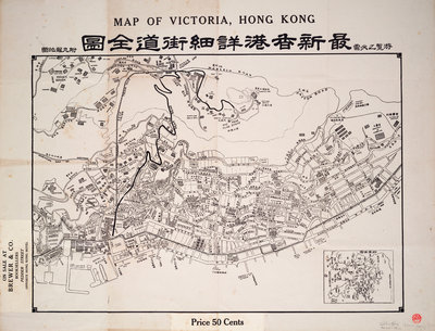 Map of Victoria, Hong Kong by Anonymous - print