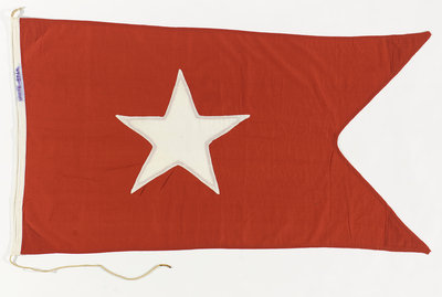 House flag, White Star Line by unknown - print