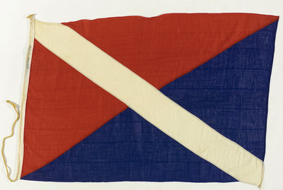House flag, Bank Line Ltd by unknown - print