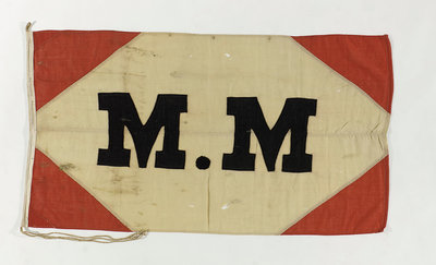 House flag, Compagnie des Messageries Maritimes by unknown - print