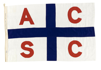 House flag, Australian Coastal Shipping Commission by Thomas Evan Pty Ltd. - print
