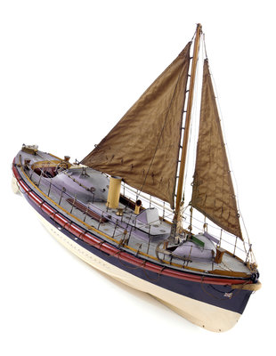 Full hull model, Watson lifeboat, starboard by unknown - print