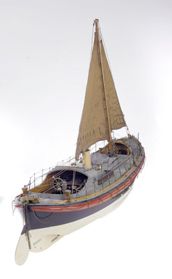 Full hull model, Watson lifeboat, starboard stern quarter deck by unknown - print