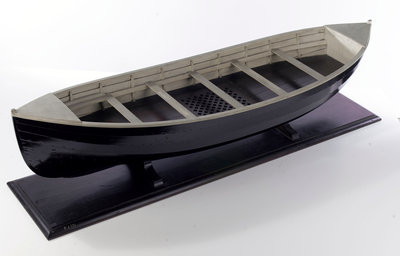 Full hull model, lifeboat by unknown - print