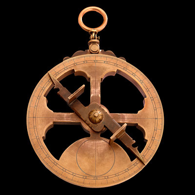 Mariner's astrolabe by Midhurst County Secondary School - print