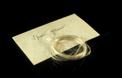 Two skeins of spun glass in an envelope by unknown - print