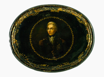 Tray commemorating Vice-Admiral Horatio Nelson (1758-1805) by Lemuel Francis Abbott - print