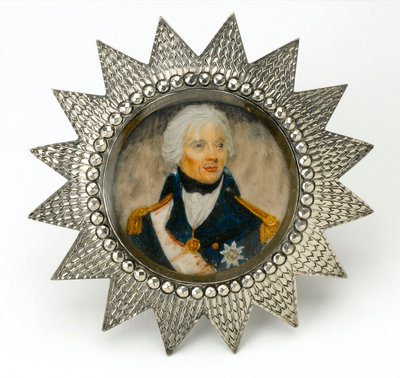Miniature painting depicting Vice-Admiral Horatio Nelson (1758-1805) by Lemuel Francis Abbott - print