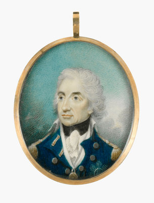 Miniature painting depicting Vice-Admiral Horatio Nelson (1758-1805) after Lemuel Francis Abbott by Lemuel Francis Abbott - print