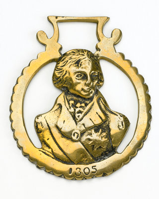 Horse brass commemorating Vice-Admiral Horatio Nelson (1758-1805) by unknown - print