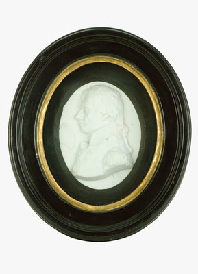 Portrait plaque depicting Vice-Admiral Horatio Nelson (1758-1805) by Catherine Andras - print