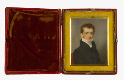 Miniature painting of the Reverend Philip Ward (1795-1859), husband of Nelson's daughter Horatia, painted at the time of their marriage in 1822 by Charles Ross - print