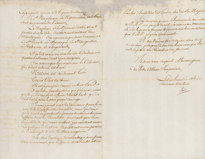 Letter from Decres to L. Bonaparte reporting the losses at the Battle of Trafalgar, 1805 by Louis Decres - print