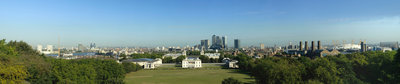 View of Greenwich Park, Queen's House and National Maritime Museum from Royal Observatory, Greenwich by National Maritime Museum Photo Studio - print