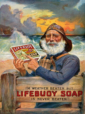 'Lifebouy Soap' advertisment leaflet by unknown - print