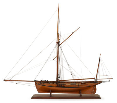 A two masted sailing vessel 'Dandy' (circa 1825) by unknown - print