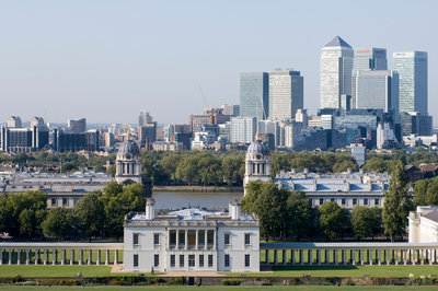 View of Queen's House and Isle of Dogs from Greenwich Park by National Maritime Museum Photo Studio - print
