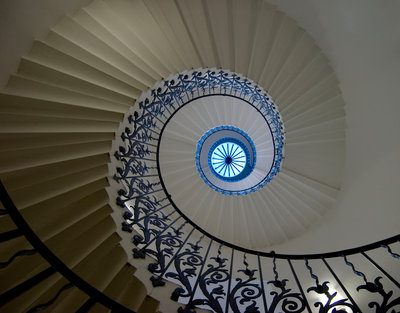 Tulip Stair in Queen's House, Greenwich by National Maritime Museum Photo Studio - print