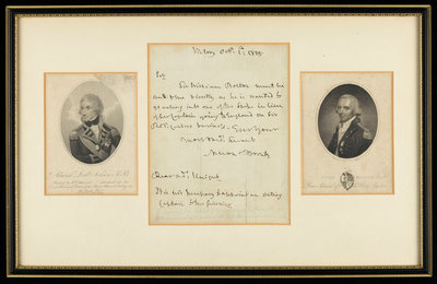 Two portraits and a letter by Admiral Lord Nelson by unknown - print