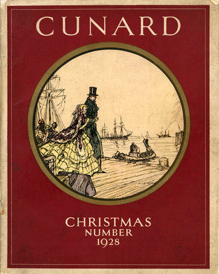 Cover of Cunard Christmas Annual 1928 by unknown - print
