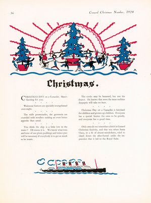 Cunard Christmas Annual 1928, page 36 by unknown - print