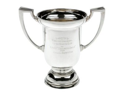 Silver trophy presented to HMMV 'Winchester Castle', 1931, by Amy Johnson, the aviator (1903-1941) by Searle & Co. Ltd. - print