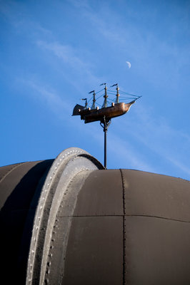 Telescope dome and ship model at Royal Observatory, Greenwich by National Maritime Museum Photo Studio - print