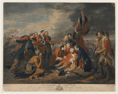 The death of General James Wolfe, 1759 by Benjamin West - print