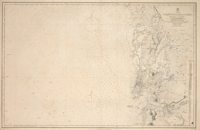 Chart of Arnola Island, 1884 by unknown - print
