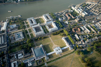 Aerial view of National Maritime Museum and Queen's House, Greenwich by National Maritime Museum Photo Studio - print