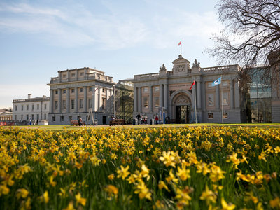 Exterior of the National Maritime Museum, Greenwich in spring 2007 by National Maritime Museum Photo Studio - print