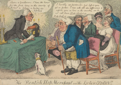 The Kentish Hop Merchant and the Lecturer on Optics!! by George Woodward - print
