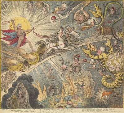 Phaeton alarm'd by James Gillray - print
